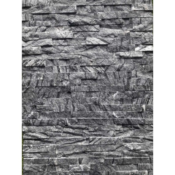 "Akmens panelė ""Crystal Black"" 15x60 cm, m2"