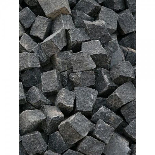 Trinkelės granito juodos ~10x10x5 cm, kg (Bigbag >1t 150€/t)