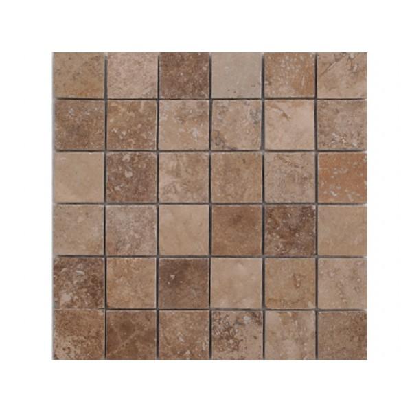 Mozaika Travertino GEA, šlifuota, su užpildu 4,8x4,8x1cm, m2