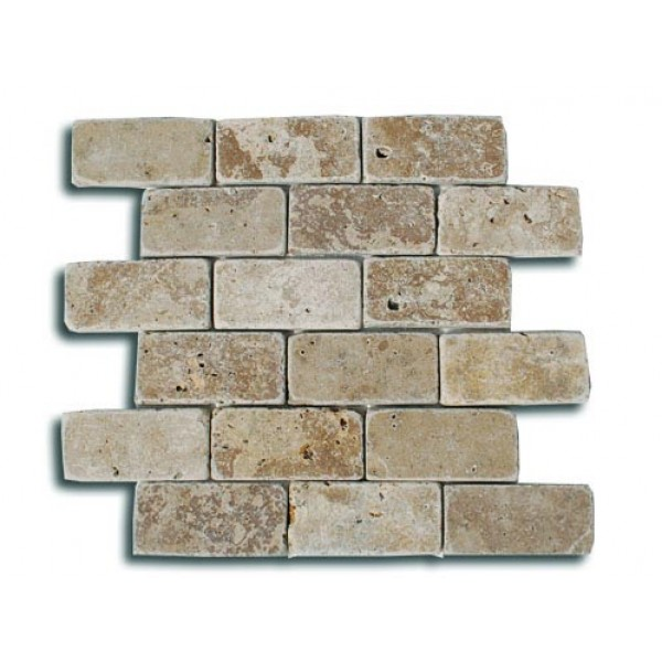 Travertino GEA mozaika, sendinta, be užpildo, 4,8x10 cm, m2