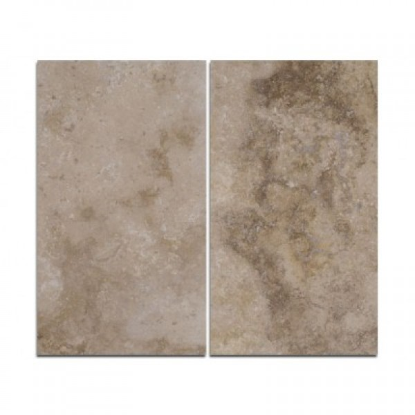 Travertino plytelės GEA, šlifuotos, su užpildu 30,5x61x1,2 cm, m2
